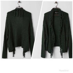 Gypsies & Moondust | Fringe Cardigan Sweater